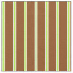 [ Thumbnail: White, Light Green, Tan, and Brown Lines Fabric ]