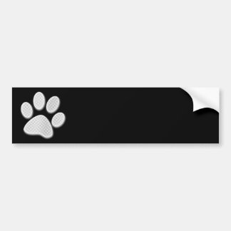 White/Light Grey Halftone Paw Print Bumper Sticker