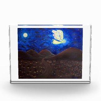 White Light Guardian Angel Art Custom Paperweight Acrylic Award