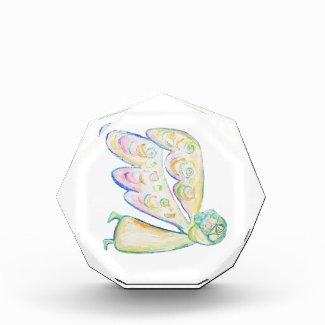 White Light Guardian Angel Art Custom Paperweights Acrylic Award