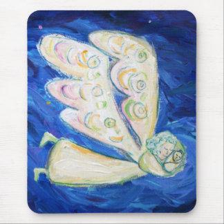 White Light Guardian Angel Art Mousepads
