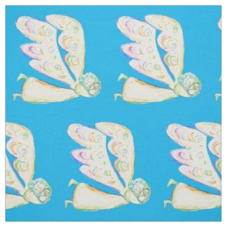 White Light Guardian Angel Fabric Art Material