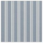 [ Thumbnail: White & Light Slate Gray Lines/Stripes Pattern Fabric ]