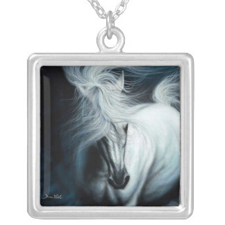 White Lightening Silvertone Necklace