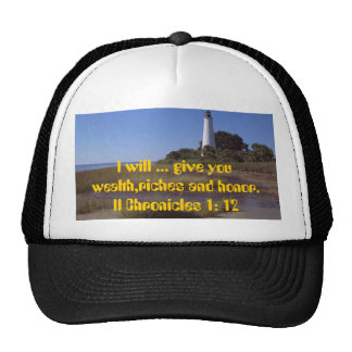 White- Lighthouse Scripture T-Shirts Mesh Hat