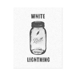 """White Lightning"" Moonshine Jar Canvas Art"