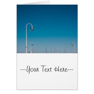 White Lights On A Pier, Blue Sky Card