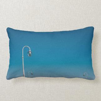 White Lights On A Pier, Blue Sky Lumbar Pillow