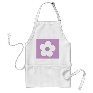 White lilac cartoon flower apron