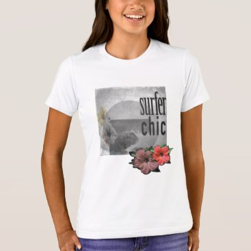 Beach Themed White-lilac-Island-beach-surf-Tee-for-kids T-Shirt