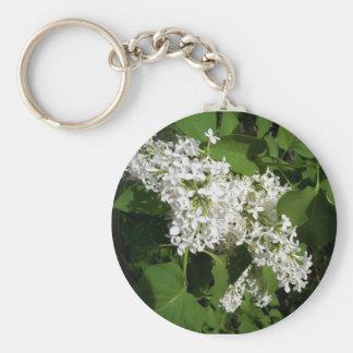 White Lilac Key Chain