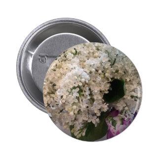White Lilacs Button