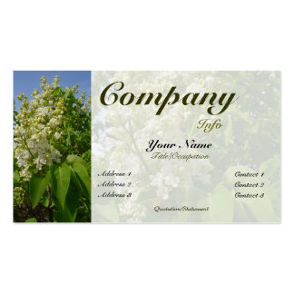 White Lilacs in Bloom-custom color Business Cards