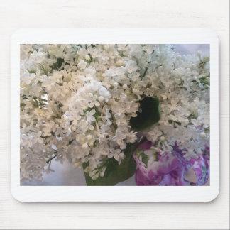 White Lilacs Mouse Pad
