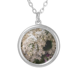 White Lilacs Silver Plated Necklace