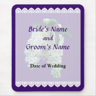 White Lilacs Wedding Favors Mouse Pad