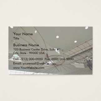 White Lilenthal hang glider in museum Business Card