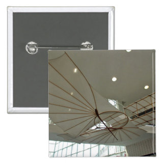 White Lilenthal hang glider in museum Pinback Buttons