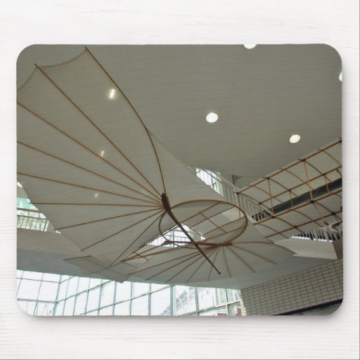 White Lilenthal hang glider in museum Mouse Pad