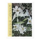 White Lilies Easter Postcard