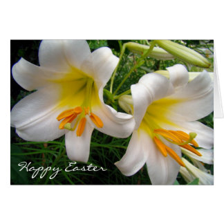 White Lilies Easter Stationery Note Card