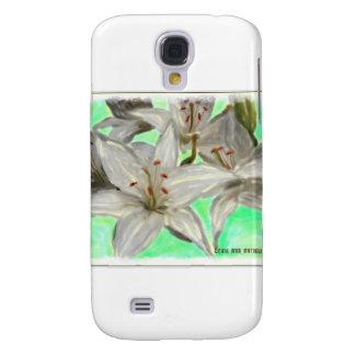 White Lilies Galaxy S4 Case