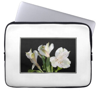 White Lilies Laptop Sleeve