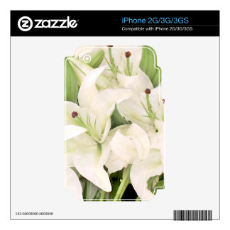 White Lilies,Lilies of love_ Decal For iPhone 2G