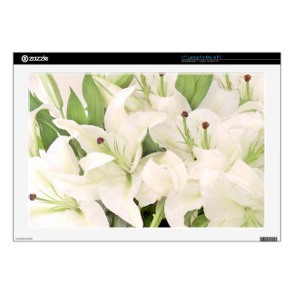 """White Lilies,Lilies of love_ Skins For 17"""" Laptops"""