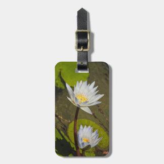 White Lilies Bag Tag