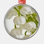 White Lilies Metal Ornament