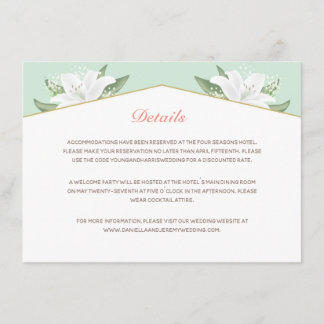 White Lilies & Mild Mint Details Card