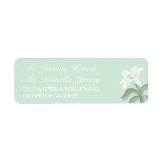 White Lilies & Mild Mint Return Label