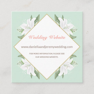 White Lilies & Mild Mint Website Card