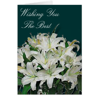 White Lilies Note Card