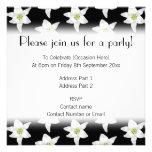 White Lilies on Black. Invitation