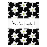 White Lilies on Black. Personalized Invites