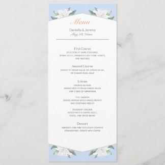 White Lilies & Powder Blue Menu