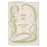 White Lilies Thank You Card