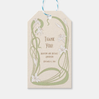 White Lilies Thank You Gift Tags