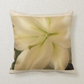 White Lillum Flower Photo Cushion