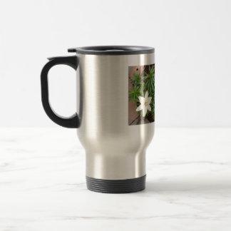 White Lily 15 Oz Stainless Steel Travel Mug