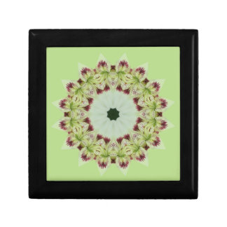White Lily 16 Point Star Kaleidoscope Jewelry Box