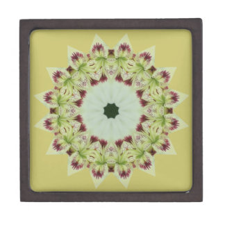 White Lily 16 Point Star Kaleidoscope Keepsake Box