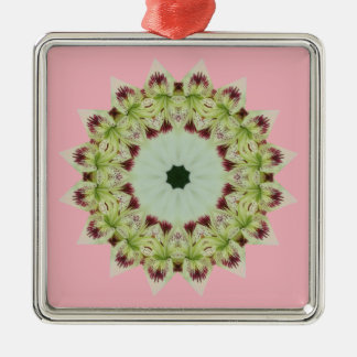 White Lily 16 Point Star Kaleidoscope Ornaments