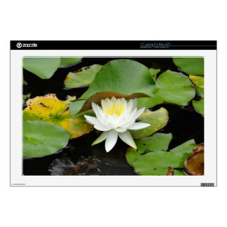"""White Lily 17"""" Laptop Decal"""