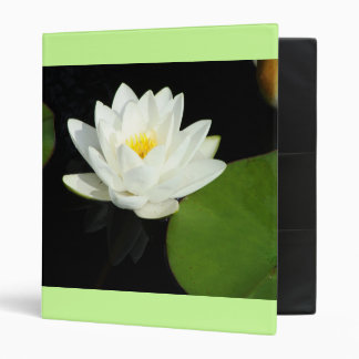 White Lily and Green Lily Pad Binder