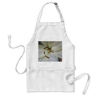 White lily apron