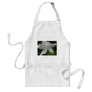 White Lily Adult Apron