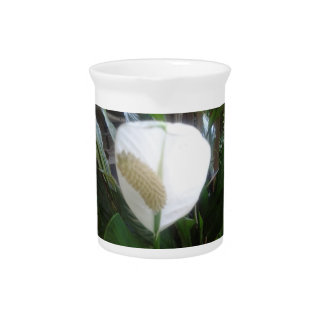 white lily bloom drink pitcher